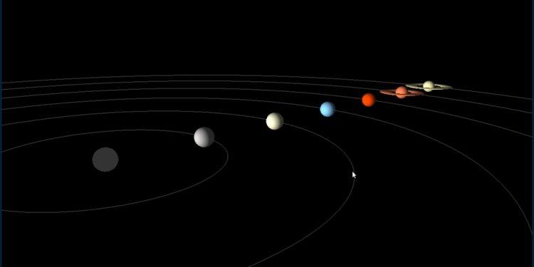 Center of Solar System Sun