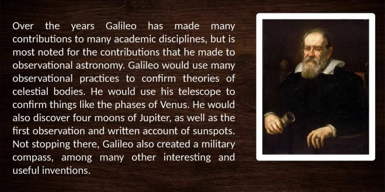 Galileo Contribution to
