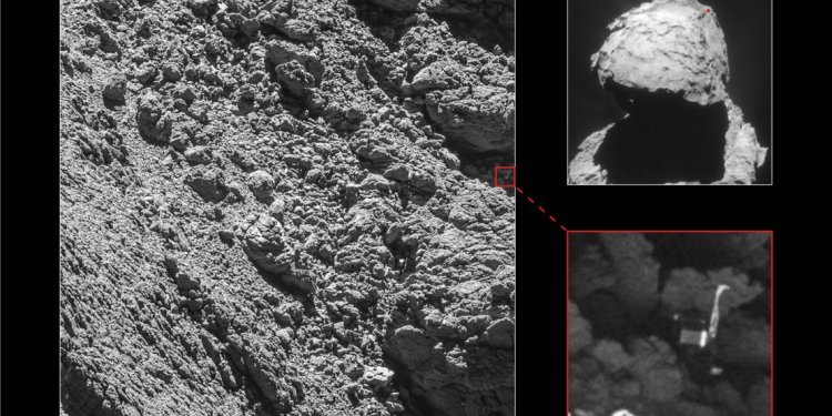 Picture of Philae found in