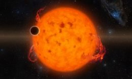 An artist's impression of K2-33b, one of the youngest exoplanets detected to date.