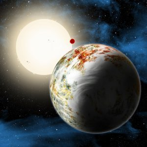 Artist's concept of the exoplanet Kepler-10c, the
