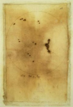Galileo Galilei, Sunspot observations - Galileo Galilei 1612