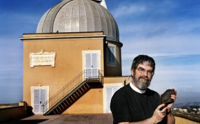 Jesuit Brother Guy Consolmagno pictured at the observatory in Rome (CNS)