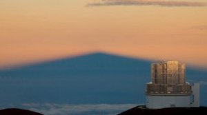 The 8-meter Subaru Telescope atop Mauna Kea in Hawaii has a large field of view—enabling it to search efficiently for Planet X.